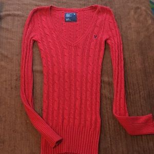 Juniors American Eagle Outfitters red sweater XS